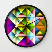 metallic Wall Clocks featuring Metallic by dogooder