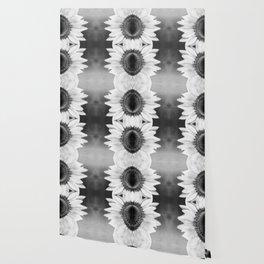 B&W Sunflower Wallpaper