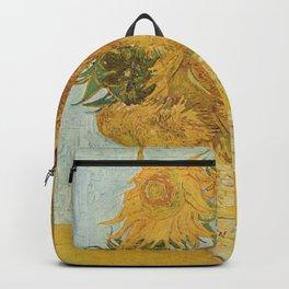 Vase with Twelve Sunflowers, Van Gogh Backpack
