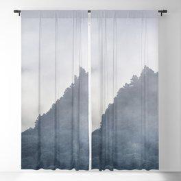 Misty mountains. Dream sunrise. Square Blackout Curtain