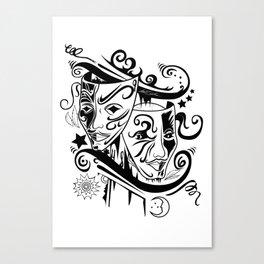 Zodiac - Gemini Canvas Print