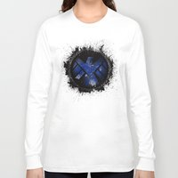 shield Long Sleeve T-shirts featuring Avengers - SHIELD by Trey Crim