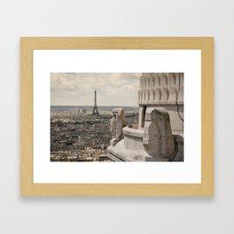 Watching Over Paris Framed Art Print