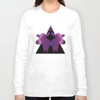 cows Long Sleeve T-shirts featuring Psychadelic cows by Lisa Hamberg