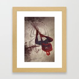The Amazing Spiderman Framed Art Print