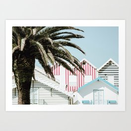 Candy Striped Houses Art Print