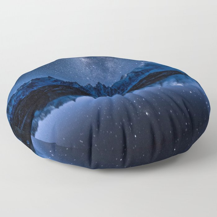 Night mountains Floor Pillow