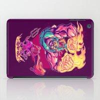 diablo iPad Cases featuring LUCHADORO VS EL DIABLO by BeastWreck