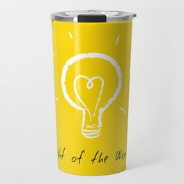 Light of the World - yellow Travel Mug