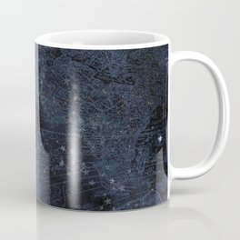 Antique World Star Map Navy Blue Coffee Mug