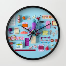 Miniature Collage: Crafting Wall Clock