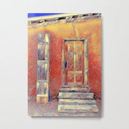 Pueblo Door #6 Metal Print
