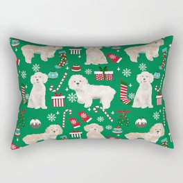 Cockapoo dog breed christmas holiday pet portrait pattern gifts Rectangular Pillow