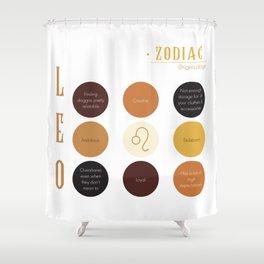 Leo Zodiac Sign Personality Shower Curtain