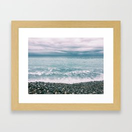Menton Beach Framed Art Print