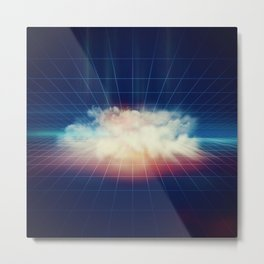 Disco Cloud Metal Print