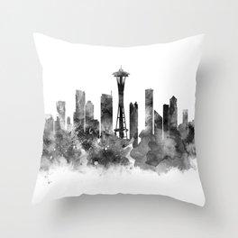Seattle Black and White Throw Pillow
