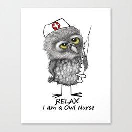 Owl Nurse Canvas Print