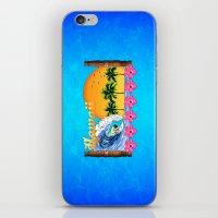 hawaiian iPhone & iPod Skins featuring Hawaiian Surfing by MacDonald Creative Studios