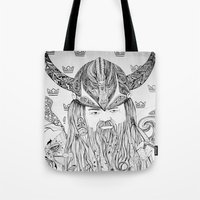 viking Tote Bags featuring Viking by Infra_milk