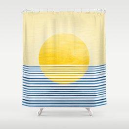Minimal Summer Sunset Shower Curtain