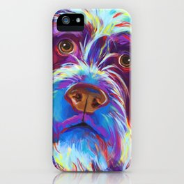Wirehaired Griffon or Labradoodle iPhone Case