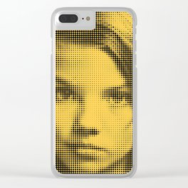 Face of raster Clear iPhone Case