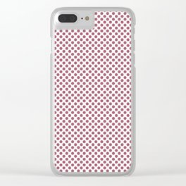 Rose Wine Polka Dots Clear iPhone Case