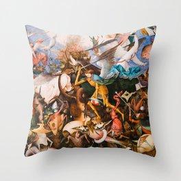 The Fall Of The Rebel Angels 1562 By Pieter Bruegel The Elder Throw Pillow