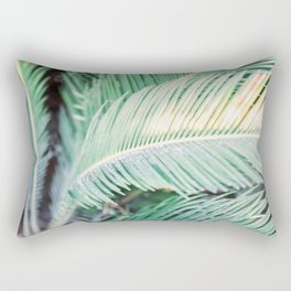 Turquoise green palm trees in Ibiza | Travel wanderlust photography | colorful wall art Rectangular Pillow