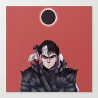 berserk Canvas Prints featuring Guts Berserk by Kurodoj