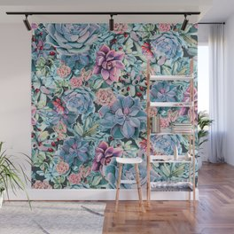 Succulents - For the Memory of a Never-ending Love Wall Mural