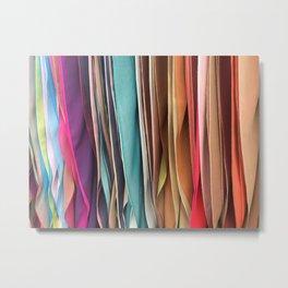Silk Scarves Metal Print