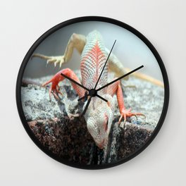 Chameleon On The Way Wall Clock