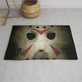 Slasher Hockey Mask Rug