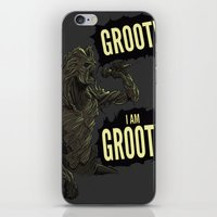groot iPhone & iPod Skins featuring Groot! I am Groot! by mstfaCmly