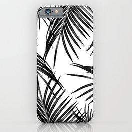 Black Palm Leaves Dream #1 #tropical #decor #art #society6 iPhone Case