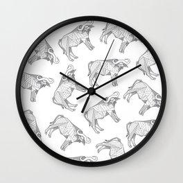 African Animals - Buffalo White Wall Clock