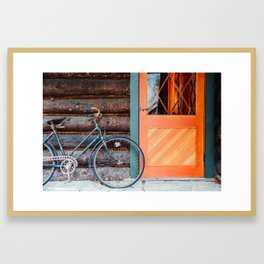 Vintage Bicycle Framed Art Print