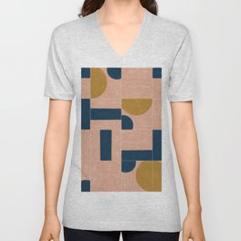 Painted Wall Tiles 03 #society6 #pattern Unisex V-Neck