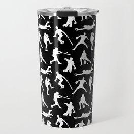 Baseball Players // Black Travel Mug