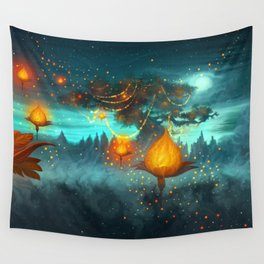 Magical lights Wall Tapestry
