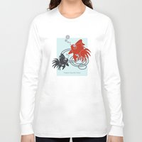 the life aquatic Long Sleeve T-shirts featuring Happy Aquatic Days by Wind-Up Sprout Design