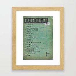 All Purpose Congratulations Card Framed Art Print