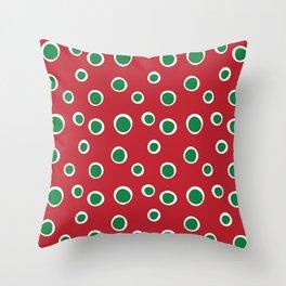 Christmas Dots Throw Pillow
