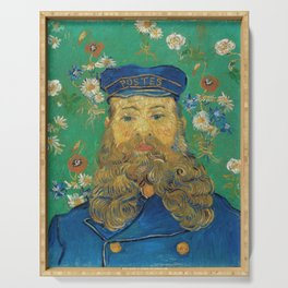 Vincent Van Gogh - Portrait of the Postman Joseph Roulin Serving Tray