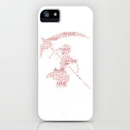 Anime Inspired Shirt iPhone Case