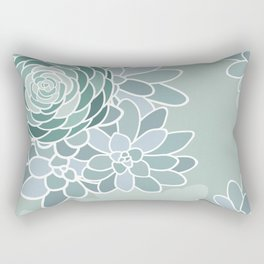 Succulent Bouquets Rectangular Pillow