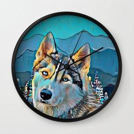 Mountain Dog  Wall Clock