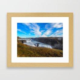 Gulfoss waterfall Framed Art Print